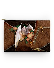 Bag Of Holding Leather Pattern Print Accessory Pouch - Standard front