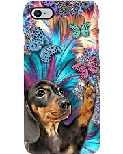 Dachshund and Butterflies Phone Case i-phone-8-case