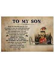 To My Son Racing 17x11 Poster front