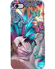 Bulldog and Butterflies Phone Case i-phone-8-case