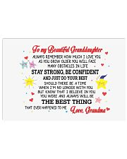 To My Granddaughter Horizontal Poster tile