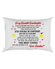 To My Granddaughter Rectangular Pillowcase tile