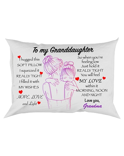 Personalize Granddaughter Pillowcase