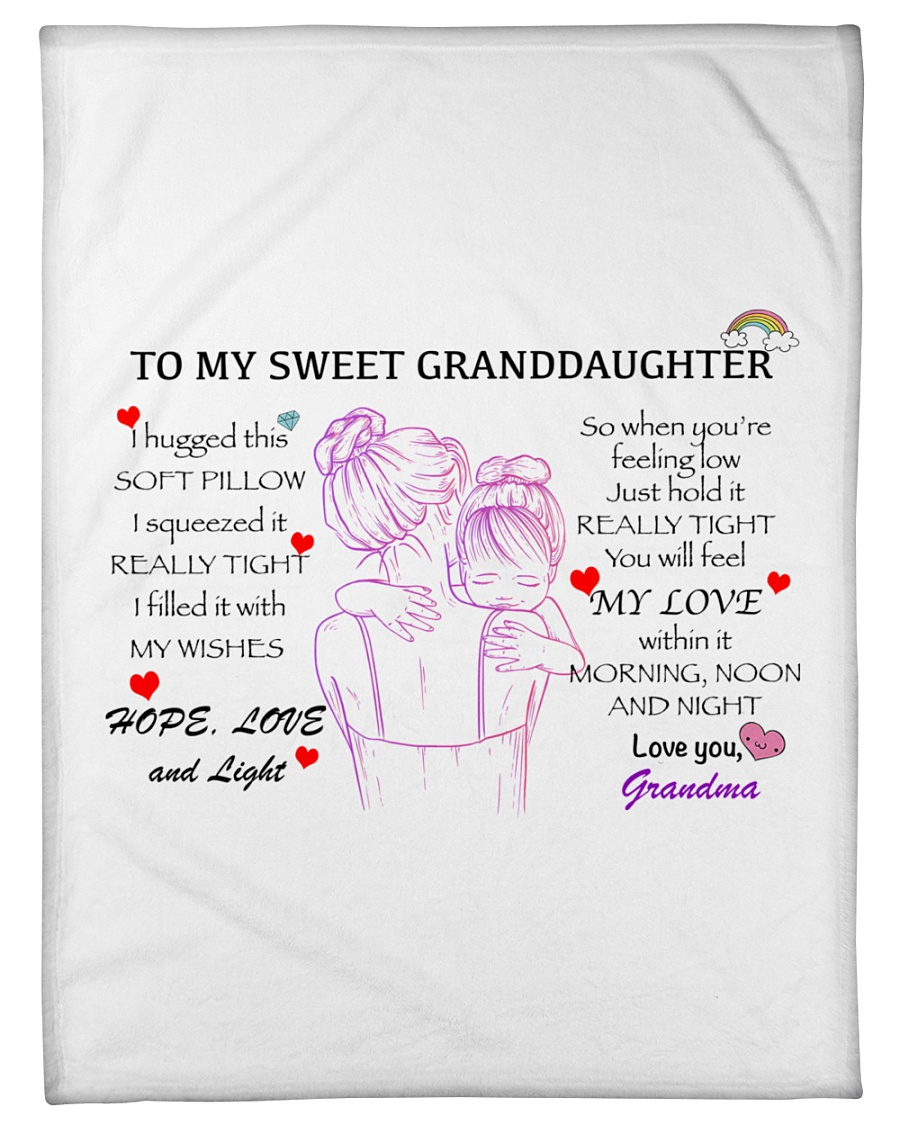 "Personalize Granddaughter Pillowcase Small Fleece Blanket - 30"" x 40"""