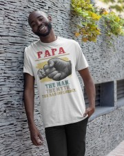 Papa the man the myth the bad influence Classic T-Shirt apparel-classic-tshirt-lifestyle-front-33