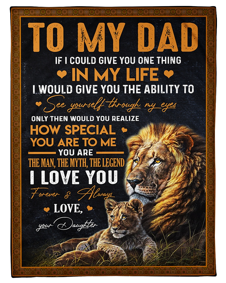 """To My Dad Small Fleece Blanket - 30"""" x 40"""""""