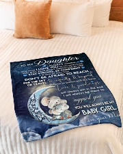 """Blanket To My Daughter Small Fleece Blanket - 30"""" x 40"""" aos-coral-fleece-blanket-30x40-lifestyle-front-01"""