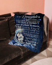 """Blanket To My Daughter Small Fleece Blanket - 30"""" x 40"""" aos-coral-fleece-blanket-30x40-lifestyle-front-05"""