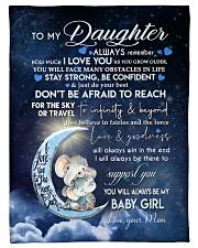 """Blanket To My Daughter Small Fleece Blanket - 30"""" x 40"""" front"""