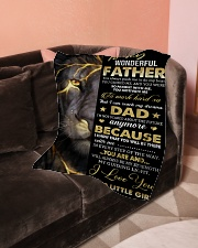 """To My Father Small Fleece Blanket - 30"""" x 40"""" aos-coral-fleece-blanket-30x40-lifestyle-front-05"""