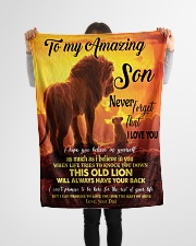 "To My Amazing Son Small Fleece Blanket - 30"" x 40"" aos-coral-fleece-blanket-30x40-lifestyle-front-14"