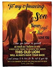 """To My Amazing Son Small Fleece Blanket - 30"""" x 40"""" front"""