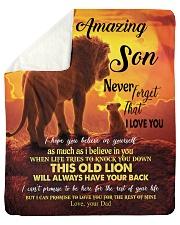 To My Amazing Son Sherpa Fleece Blanket tile