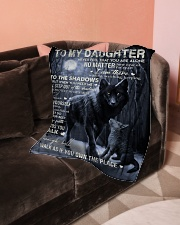"To My Daughter- mom Small Fleece Blanket - 30"" x 40"" aos-coral-fleece-blanket-30x40-lifestyle-front-05"