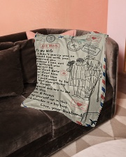 """To My Wife  Small Fleece Blanket - 30"""" x 40"""" aos-coral-fleece-blanket-30x40-lifestyle-front-05"""