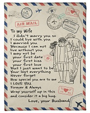 """To My Wife  Small Fleece Blanket - 30"""" x 40"""" front"""