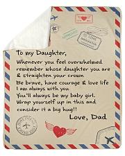 To My Daughter-Dad Sherpa Fleece Blanket tile
