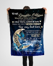 """To My Daughter- Mom Small Fleece Blanket - 30"""" x 40"""" aos-coral-fleece-blanket-30x40-lifestyle-front-14"""