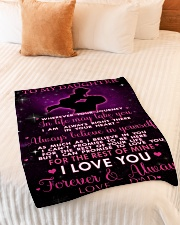 """To My Daughter Small Fleece Blanket - 30"""" x 40"""" aos-coral-fleece-blanket-30x40-lifestyle-front-01"""