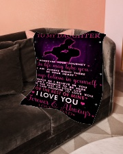 """To My Daughter Small Fleece Blanket - 30"""" x 40"""" aos-coral-fleece-blanket-30x40-lifestyle-front-05"""