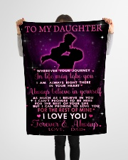"""To My Daughter Small Fleece Blanket - 30"""" x 40"""" aos-coral-fleece-blanket-30x40-lifestyle-front-14"""