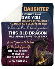 "To My Daughter - Dad Sherpa Fleece Blanket - 50"" x 60"" thumbnail"