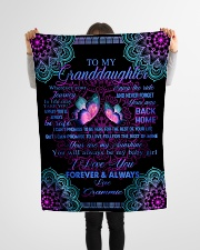 "To My Granddaughter-Grammie Small Fleece Blanket - 30"" x 40"" aos-coral-fleece-blanket-30x40-lifestyle-front-14"