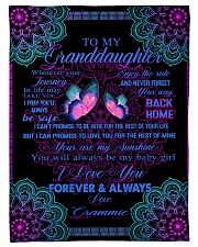 "To My Granddaughter-Grammie Small Fleece Blanket - 30"" x 40"" front"