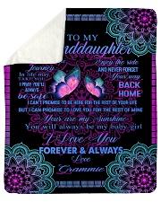 To My Granddaughter-Grammie Sherpa Fleece Blanket tile