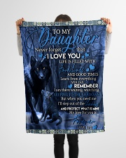"""To My Daughter-Dad Small Fleece Blanket - 30"""" x 40"""" aos-coral-fleece-blanket-30x40-lifestyle-front-14"""