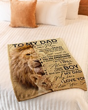 "To My Dad - Son Small Fleece Blanket - 30"" x 40"" aos-coral-fleece-blanket-30x40-lifestyle-front-01"