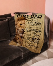 "To My Dad - Son Small Fleece Blanket - 30"" x 40"" aos-coral-fleece-blanket-30x40-lifestyle-front-05"