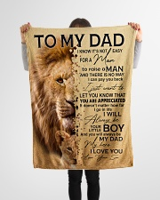 "To My Dad - Son Small Fleece Blanket - 30"" x 40"" aos-coral-fleece-blanket-30x40-lifestyle-front-14"