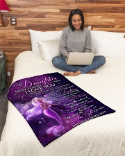 """To My Daughter- mom Small Fleece Blanket - 30"""" x 40"""" aos-coral-fleece-blanket-30x40-lifestyle-front-08"""