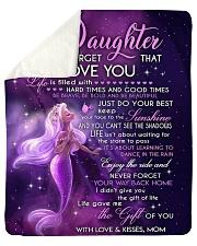 To My Daughter- mom Sherpa Fleece Blanket tile