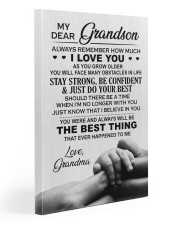 To My Grandson- Grandma 20x30 Gallery Wrapped Canvas Prints front