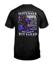 September Men My Scars  Classic T-Shirt back