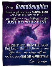 """To My Granddaughter - Grandpa Small Fleece Blanket - 30"""" x 40"""" front"""