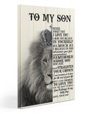 To My Son- Dad 20x30 Gallery Wrapped Canvas Prints front