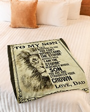 "To My Son-Dad Small Fleece Blanket - 30"" x 40"" aos-coral-fleece-blanket-30x40-lifestyle-front-01"