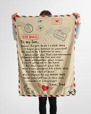 "To My Son-Dad Small Fleece Blanket - 30"" x 40"" aos-coral-fleece-blanket-30x40-lifestyle-front-14"