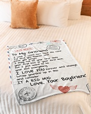 "To My Girlfriend Small Fleece Blanket - 30"" x 40"" aos-coral-fleece-blanket-30x40-lifestyle-front-01"
