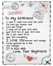 "To My Girlfriend Small Fleece Blanket - 30"" x 40"" front"