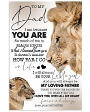 To My Dad - Daughter 11x17 Poster front
