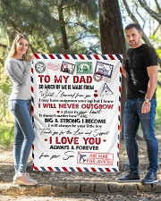 "To My Dad Quilt 40""x50"" - Baby aos-quilt-40x50-lifestyle-front-03"