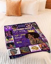 "December Queen Small Fleece Blanket - 30"" x 40"" aos-coral-fleece-blanket-30x40-lifestyle-front-01"