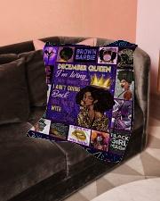"December Queen Small Fleece Blanket - 30"" x 40"" aos-coral-fleece-blanket-30x40-lifestyle-front-05"