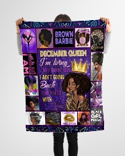 "December Queen Small Fleece Blanket - 30"" x 40"" aos-coral-fleece-blanket-30x40-lifestyle-front-14"