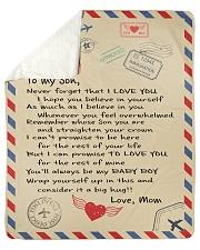 To My Son - Mom Sherpa Fleece Blanket tile