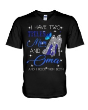 I Have Two Titles Mom And Oma V-Neck T-Shirt tile